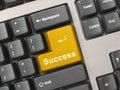 Computer keyboard - gold key Success Royalty Free Stock Photo