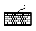 computer keyboard isolated icon design Royalty Free Stock Photo