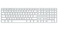 Computer keyboard isolated on white background top view Royalty Free Stock Photography