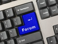 Computer keyboard -  key Forum Stock Images