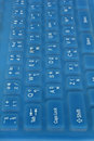 Computer keyboard made of silicone rubber for waterproof Royalty Free Stock Photos