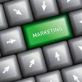 Computer keyboard marketing idea Royalty Free Stock Photo