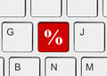 Computer keyboard with percent key Royalty Free Stock Photo