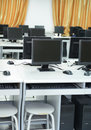 Computer lab rows of neatly placed in a Stock Photos