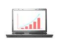 Computer Laptop Financial Graph