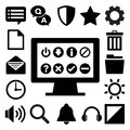 Computer menu icons set illustration eps Royalty Free Stock Photography