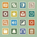 Computer menu icons set illustration eps Royalty Free Stock Images