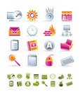 Computer, mobile phone and Internet icons Stock Photography