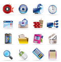 Computer, mobile phone and Internet icons Stock Photos