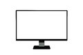 Computer monitor a inches monitor on a white background Royalty Free Stock Photos