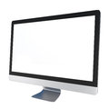 Computer Monitor isolated on white Stock Photos