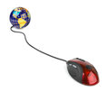 Computer mouse and globe Royalty Free Stock Photo
