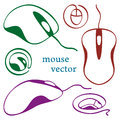 Computer mouse icons Stock Photos