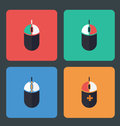 Computer mouse icons Royalty Free Stock Photo
