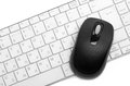 Computer mouse and keyboard Stock Images