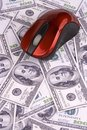 Computer Mouse and Money Royalty Free Stock Image