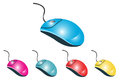 Computer mouse set of illustrations Royalty Free Stock Photos