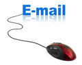 Computer mouse and word E-mail Royalty Free Stock Photo