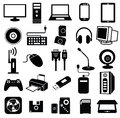 Computer peripheral icon vector set Royalty Free Stock Images