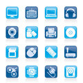 Computer peripherals and accessories icon Royalty Free Stock Photo
