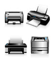 Computer printers laser printers and ink jet electronic printing technology Royalty Free Stock Photos