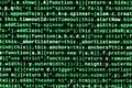 Computer program preview. Programming code typing. Information technology website coding standards for web design