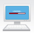 Computer progress bar with red Royalty Free Stock Photo