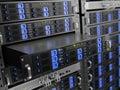 Computer rack servers Royalty Free Stock Photo