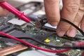Computer repair. Royalty Free Stock Photo