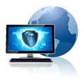 Computer security concept Stock Images