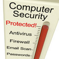 Computer Security Protected Meter Royalty Free Stock Photo