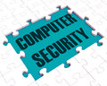 Computer Security Puzzle Showing Files Protection Stock Photo