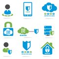 Computer security website icons set for your Stock Images