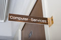 Computer services office Royalty Free Stock Photo