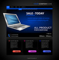Computer shop web page Royalty Free Stock Image