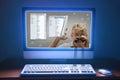 Počítač sociální média stopař pronásledování krádež