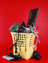 Computer trash Royalty Free Stock Photos