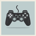 Computer video game controller joystick vector on retro background Royalty Free Stock Photography