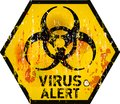 Computer virus alert sign vector illustration Stock Image