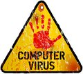 Computer virus alert sign vector illustration Stock Photo