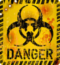 Computer virus alert sign