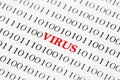 Computer Virus On Binary Code Royalty Free Stock Photo