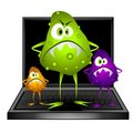 Computer Virus Bugs Clip Art Royalty Free Stock Photo