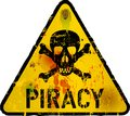 Computer virus piracy phishing warning sign vector Royalty Free Stock Photos