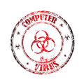 Computer virus stamp Royalty Free Stock Images
