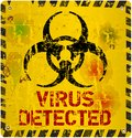 Computer virus warning sign vector eps Stock Images