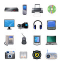 Computers and electronics icons vector devices isolated on a white background Royalty Free Stock Image