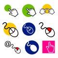 Computerspeicher- und Web-Service-Zeichen Lizenzfreie Stockfotos