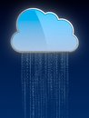 Computing cloud Royalty Free Stock Photo