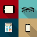 Computing concept on different electronic devices vector illustration Stock Images